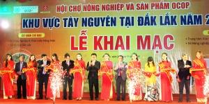 Khai mạc Hội chợ nông nghiệp và sản phẩm OCOP khu vực Tây Nguyên tại Đắk Lắk năm 2019