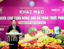 Khai mạc Phiên chợ Tuần nông sản an toàn thực phẩm năm 2020 tại thành phố Huế
